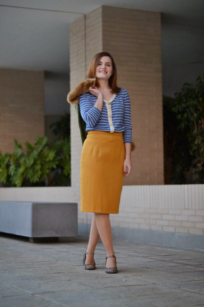 6b7363847 Falda mostaza – Patrones de costura, tutoriales e ideas   Pauline Alice