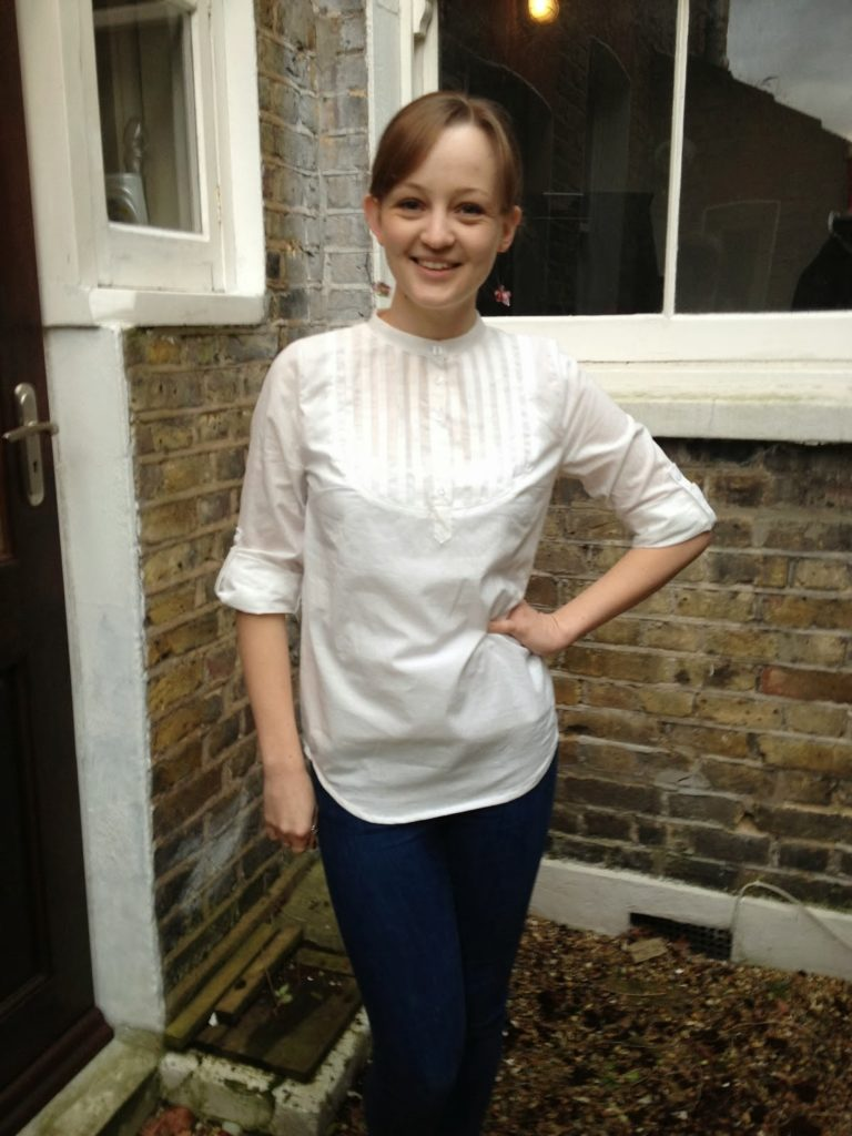 Carme Blouse Rolled Sleeves