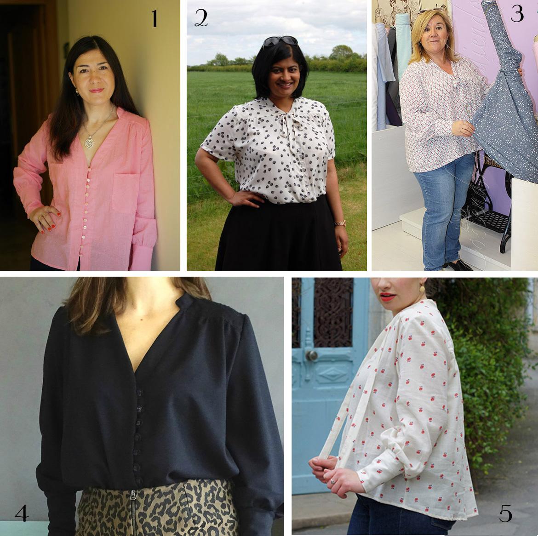 Reina shirt pattern testers
