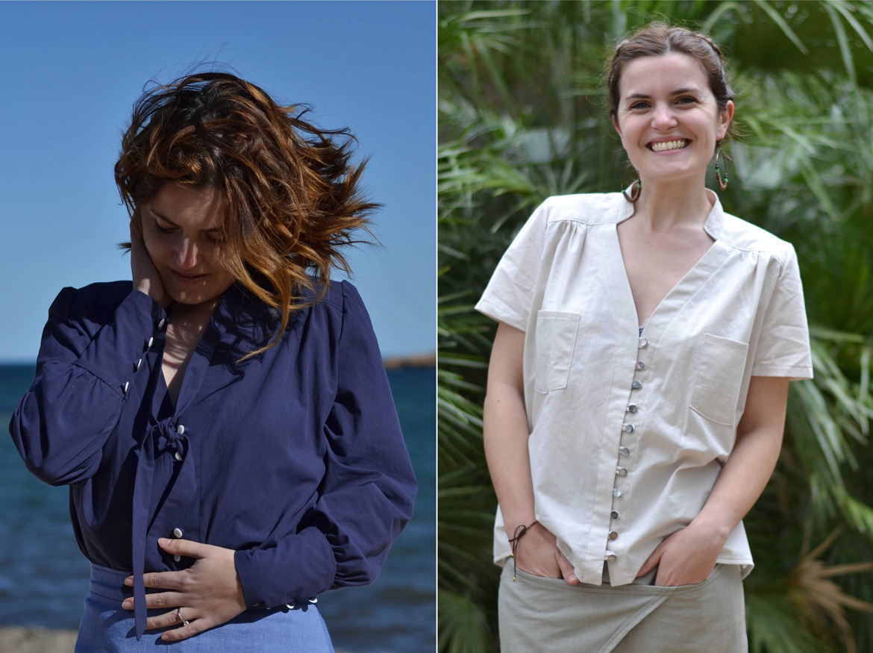 Reina shirt pattern versions