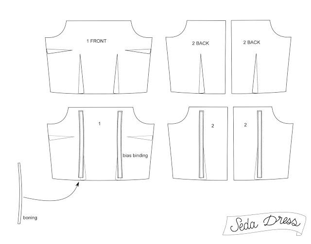Tutorial Seda: añadir ballenas de corset • Patrones de costura ...