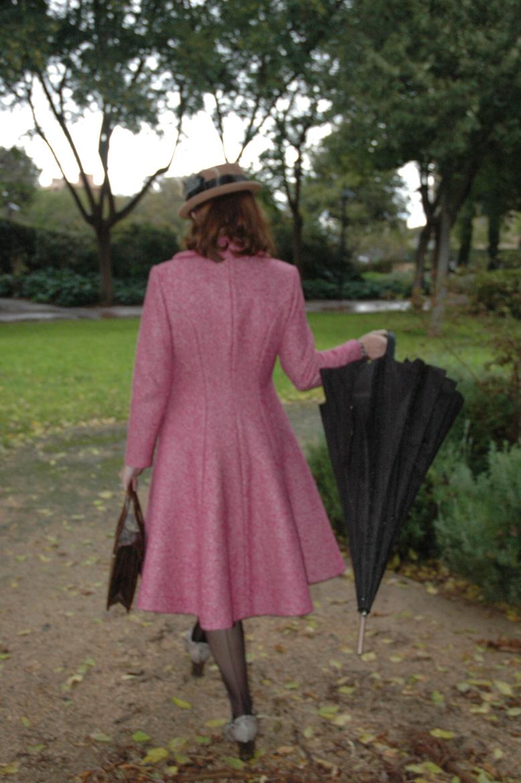 pink dior coat back
