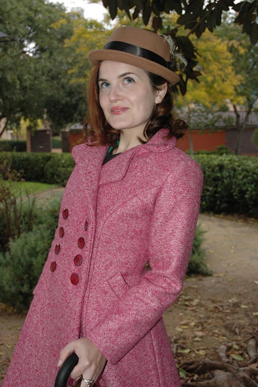 pink Dior coat front details