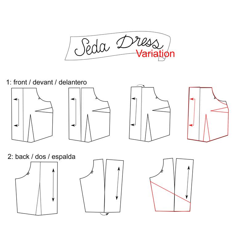 tutorial vestido seda con espalda cruzada