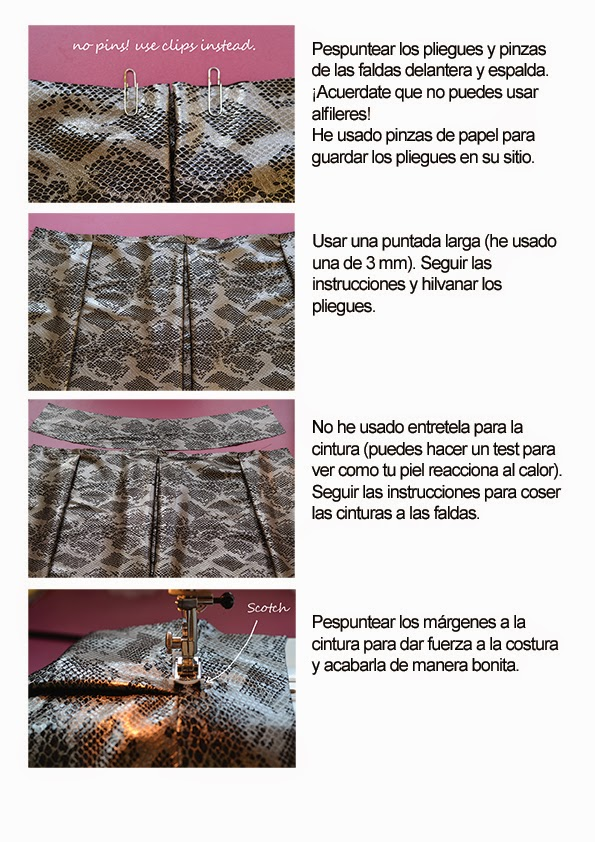 Consejos: coser con piel • Patrones de costura, tutoriales e ideas ...