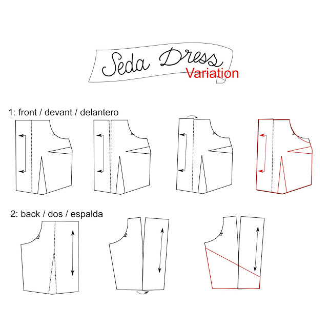 Seda dress pattern design